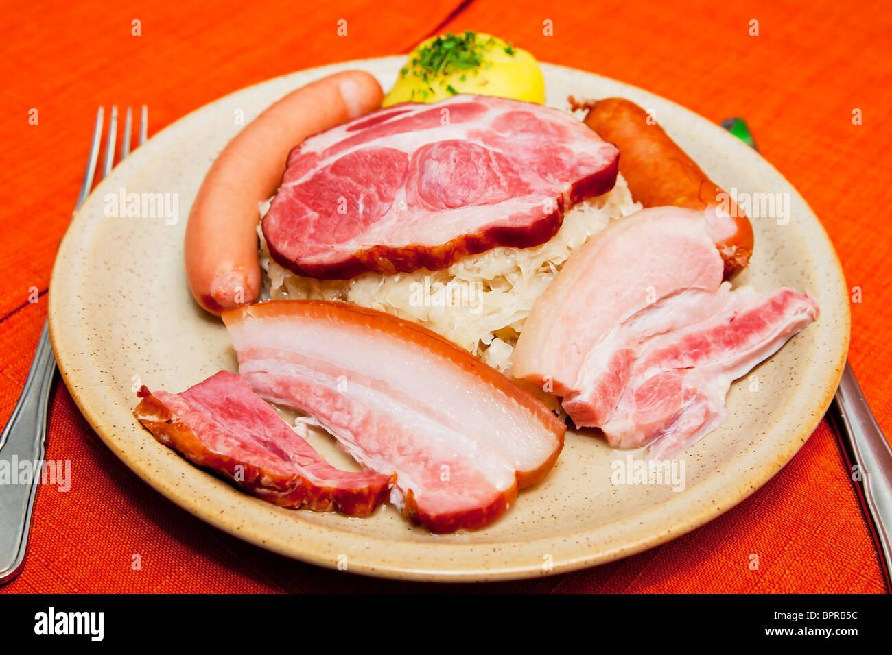 L'Alsace détail chou alimentaire Photo Stock