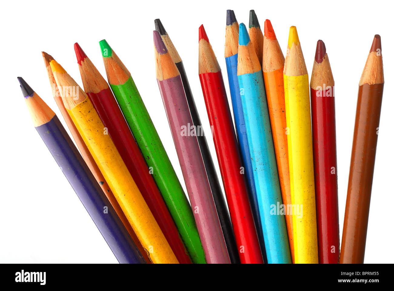 Close-up image of isolated crayons Photo Stock