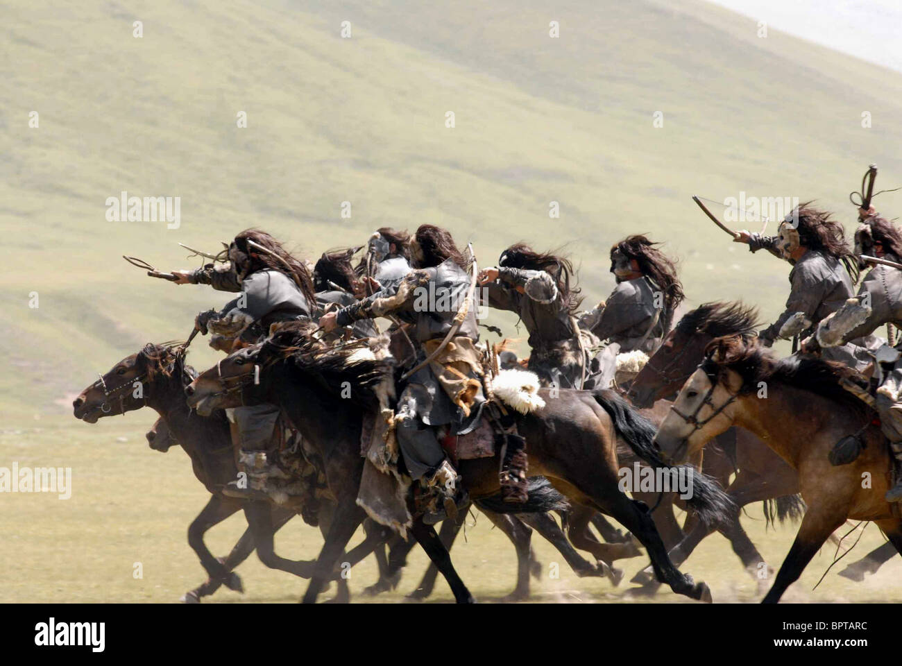 CHARGE DES CAVALIERS MONGOLS (2007) Photo Stock