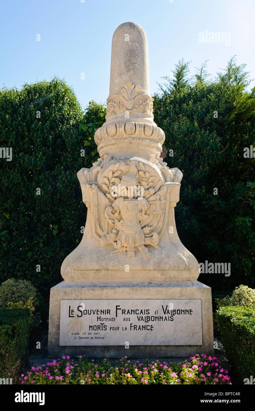 Le Souvenir Francais et Valbonne. Vallbonnais hommage aux morts pour la France Photo Stock