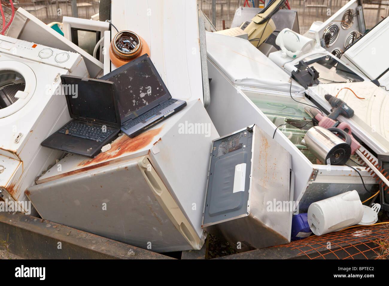 Les appareils ménagers pour recyclage Photo Stock