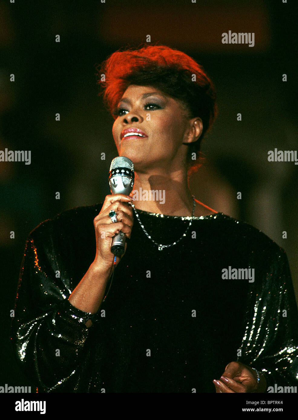 DIONNE WARWICK SINGER (1989) Photo Stock