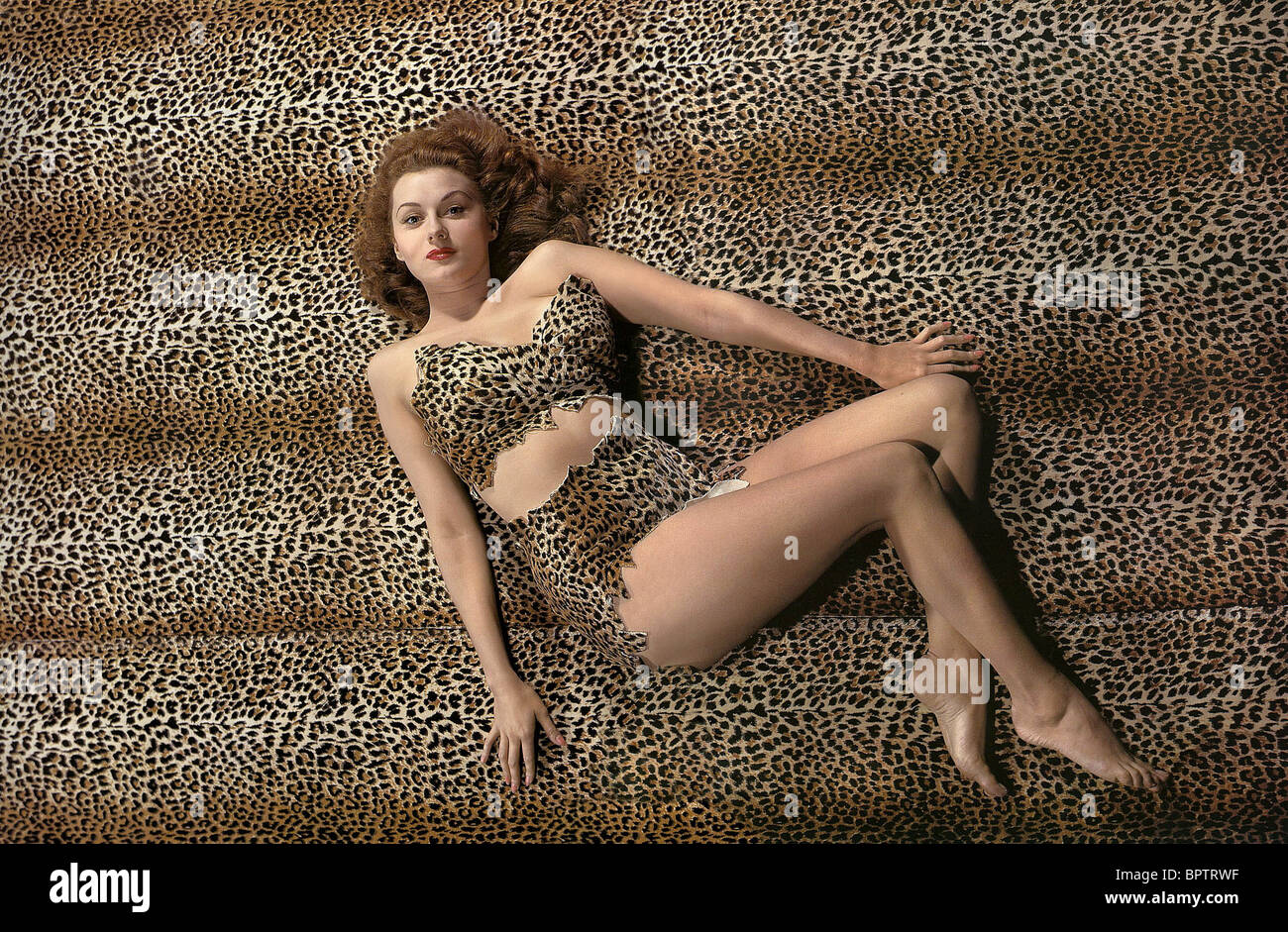 RHONDA FLEMING ACTRICE (1944) Photo Stock