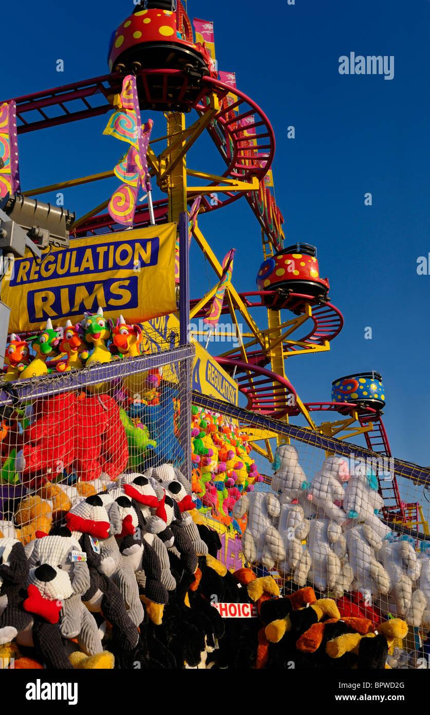 Rollercoaster souris peluche à mi-chemin avec des prix à l'Exposition nationale canadienne Toronto Photo Stock