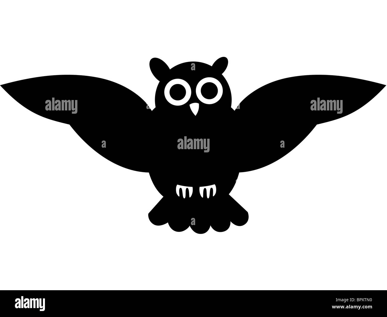 dessin en noir et blanc d 39 un hibou banque d 39 images photo stock 31322956 alamy. Black Bedroom Furniture Sets. Home Design Ideas