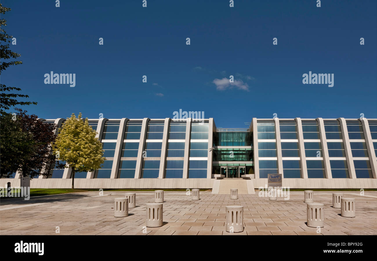 Les bureaux du groupe pharmaceutique Napp à Cambridge Science Park. Photo Stock