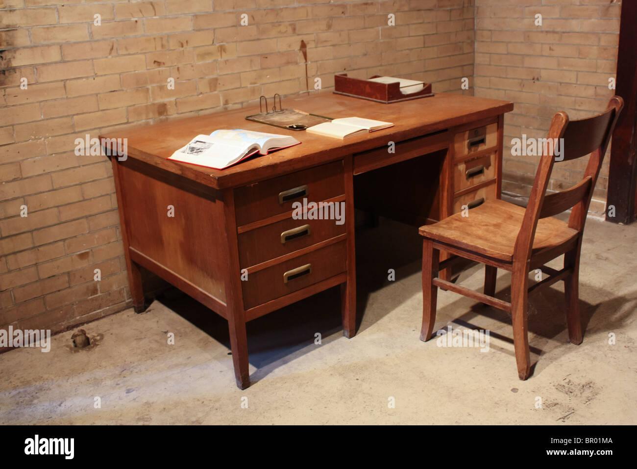Chaise De Bureau En Bois Ancien Banque D Images Photo Stock