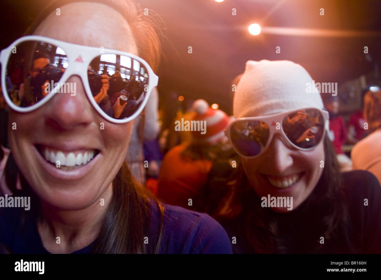 Les femmes au bar, Jackson Hole, Wyoming Photo Stock