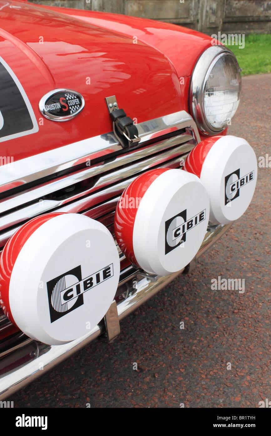 Cibie feux-route sur une Austin Mini Cooper Classique Photo Stock