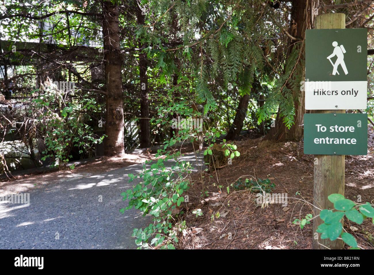 Préserver la nature autour de l'aménagement paysager REI Co-Op Siège social Magasin, Seattle, Photo Stock