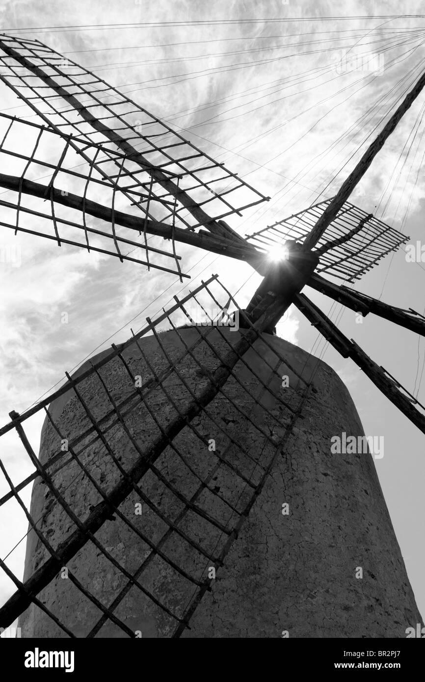 Moulins à vent Moulin à vent îles Baléares Espagne culture traditionnelle Photo Stock