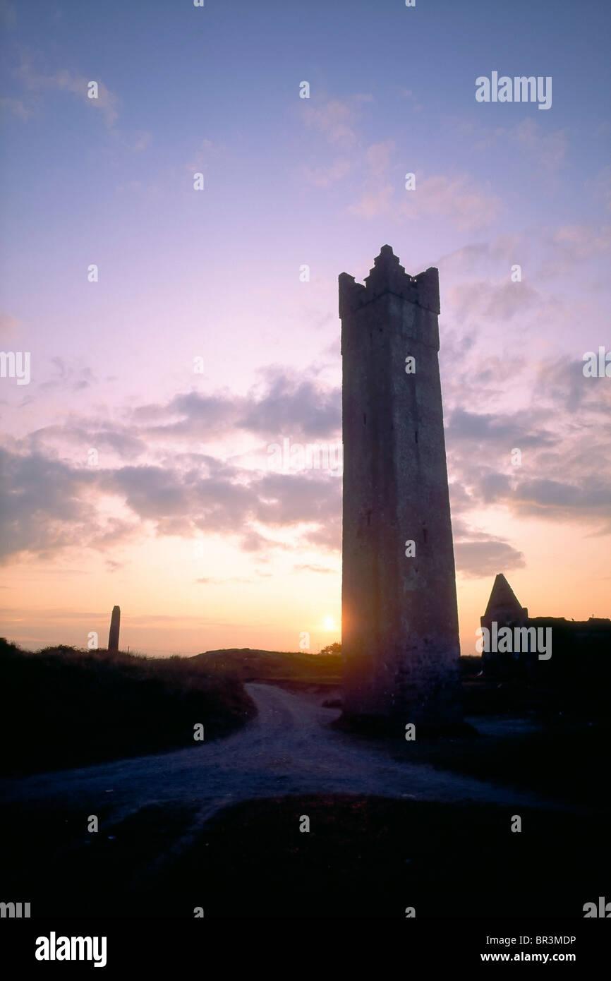 Co Meath, Irlande, la tour, l'on croit être daté à partir de la époque élisabéthaine, Photo Stock