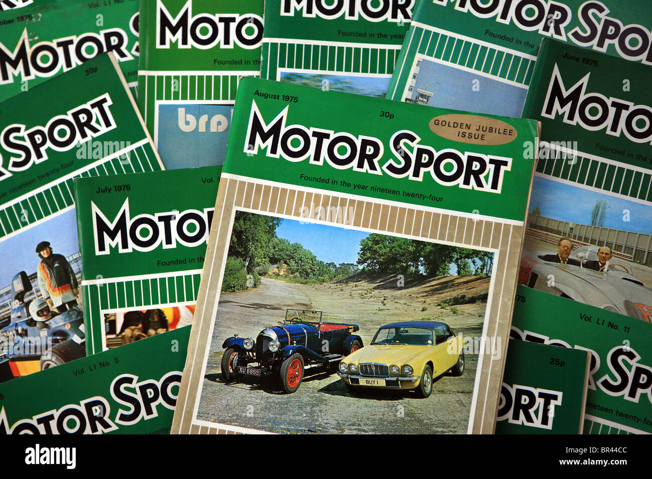 Magazines de sport automobile à partir de 1975 Photo Stock