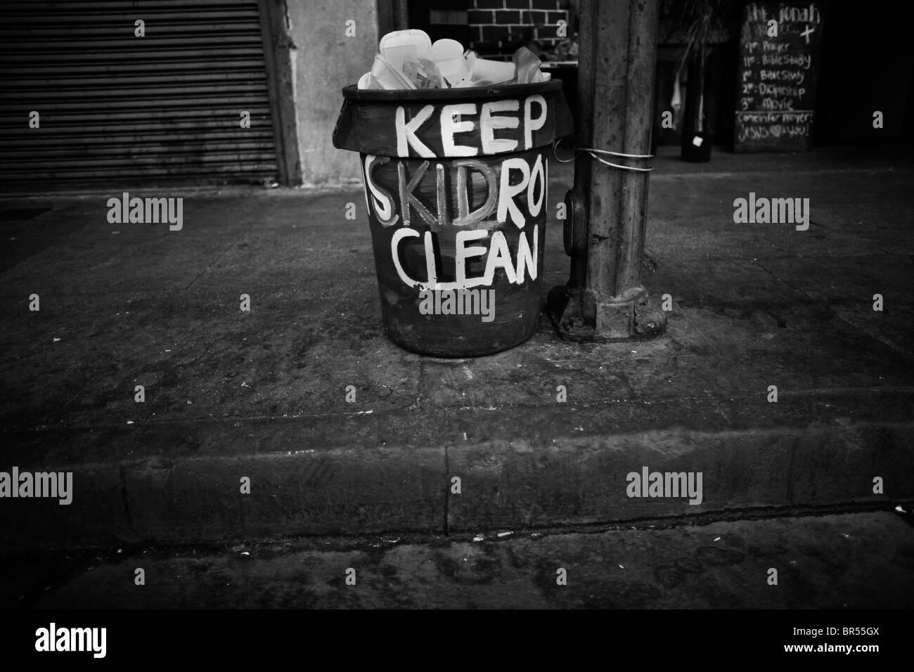 Les sans-abri dans la région de clochards de Los Angeles en Californie. Photo Stock