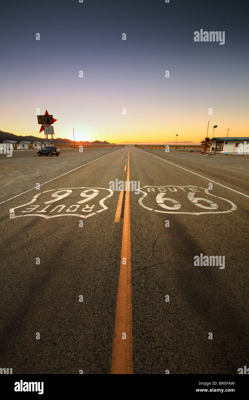 La vieille Route 66, California, USA Photo Stock