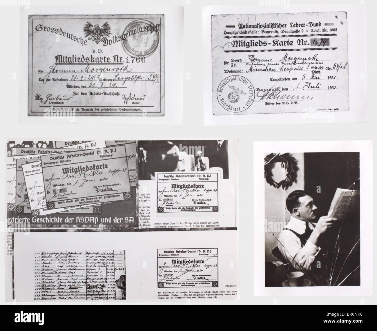 Plus de 500 photographies de l'archive centrale du NSDAP., différentes tailles, presque toutes les images Photo Stock
