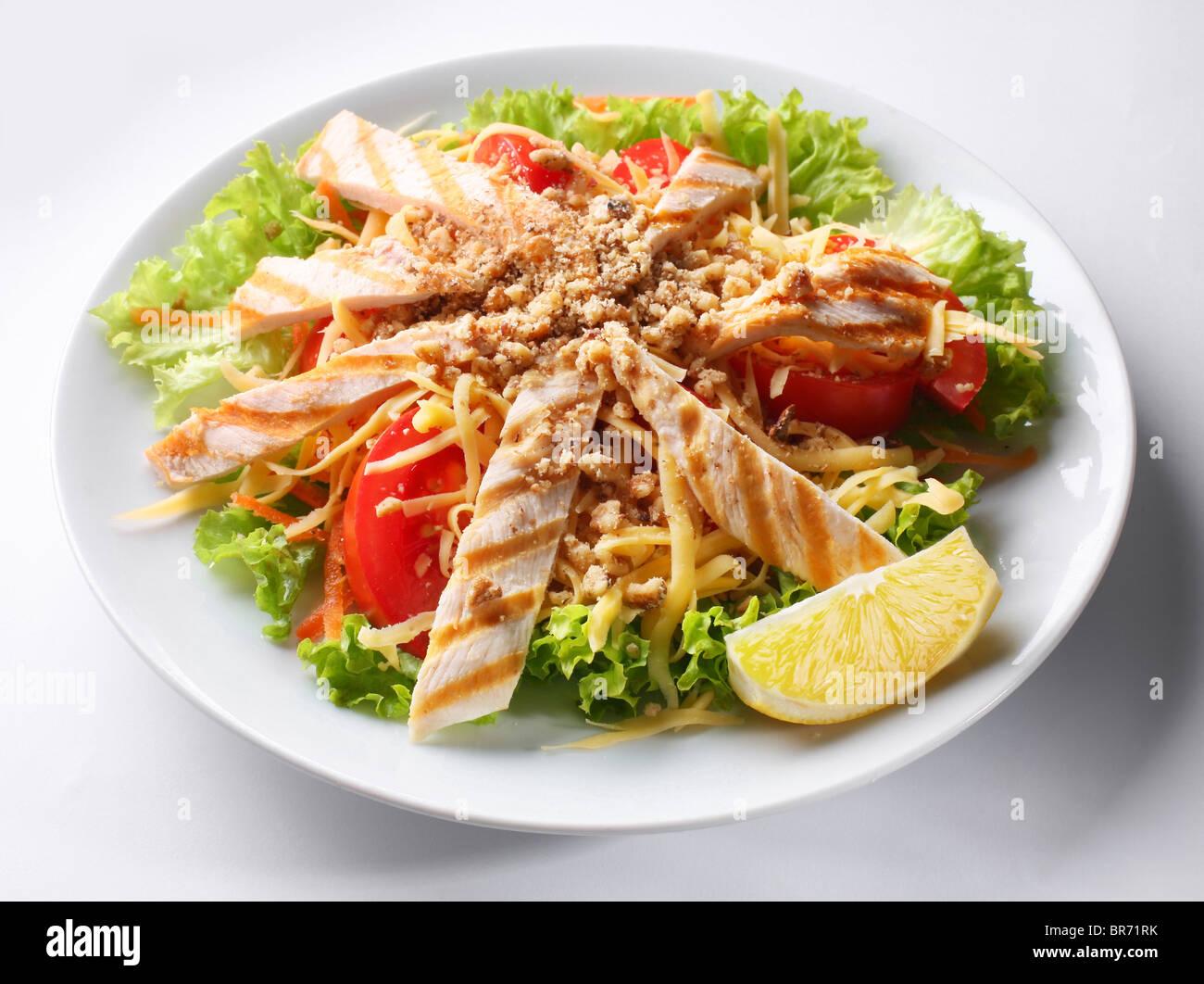 Salade de viande Photo Stock