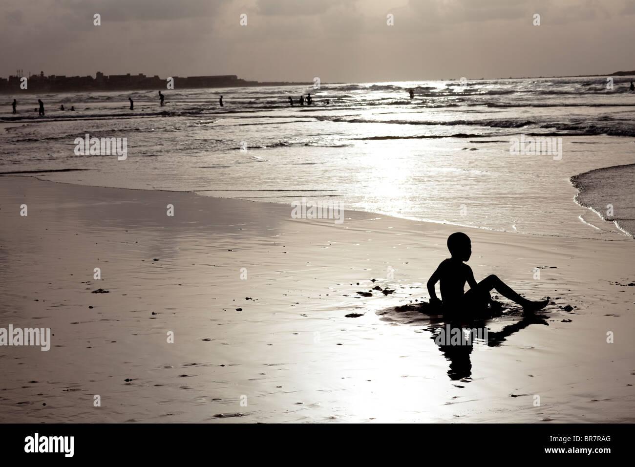 Plage et la vie de l'île, Dakar, Sénégal, Afrique Photo Stock