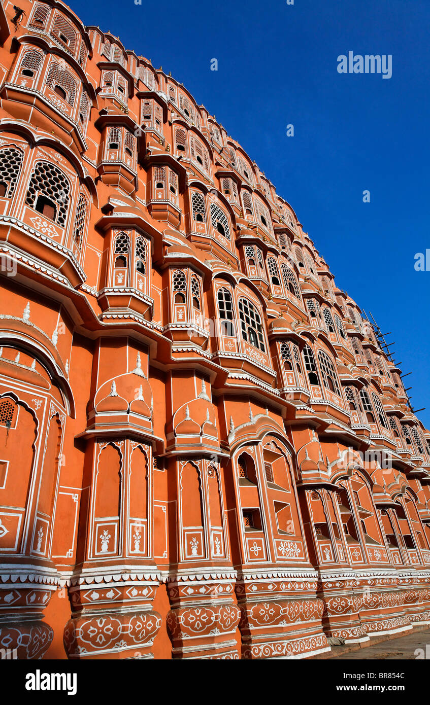 Le palais des vents, Jaipur, Rajasthan, Inde Photo Stock
