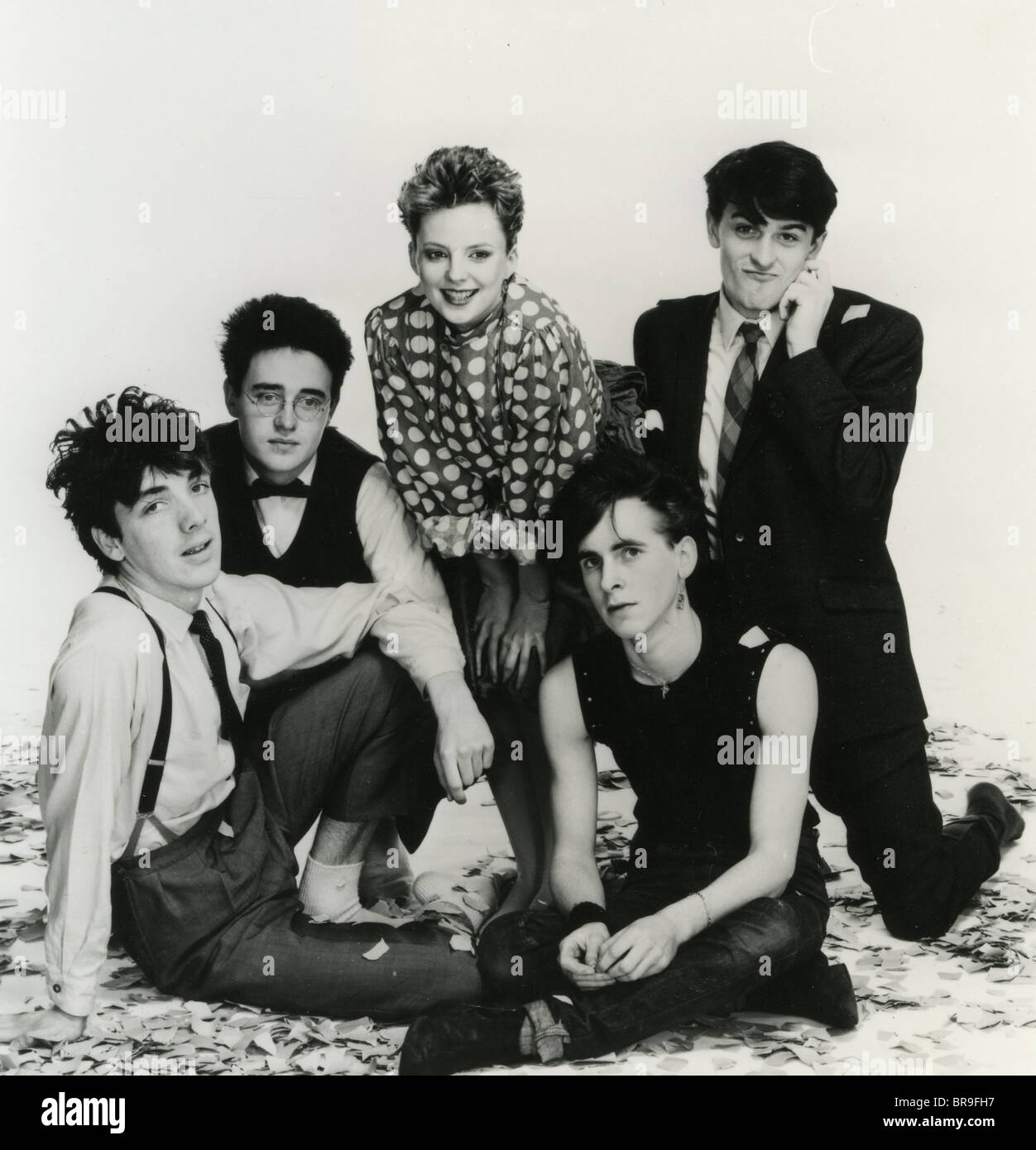 ALTERED IMAGES photo promotionnelle de 1980 New Wave Group écossais avec chanteur Clare Grogan Photo Stock