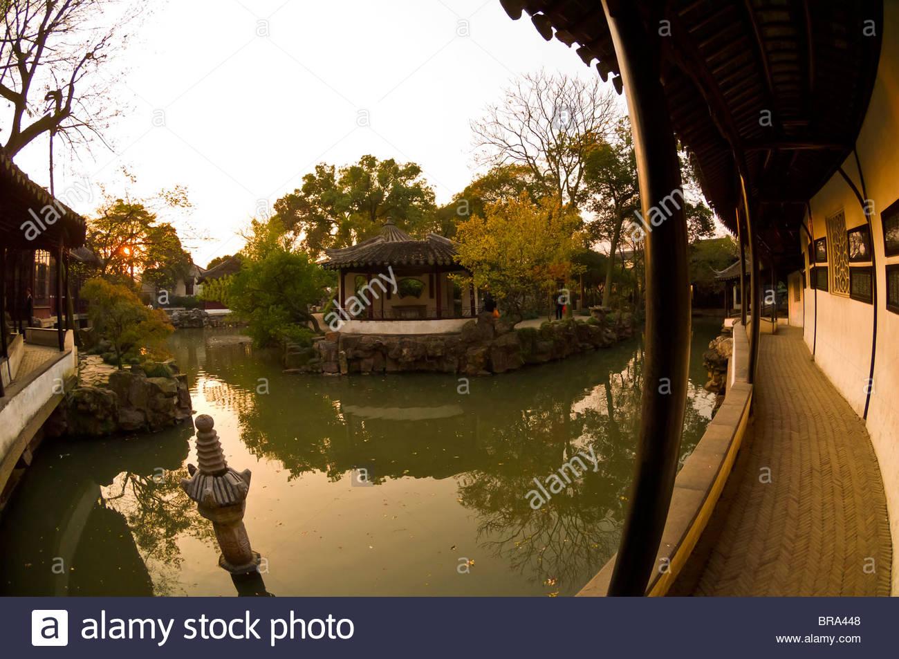 Humble Administrator's Garden, Suzhou, Chine Photo Stock