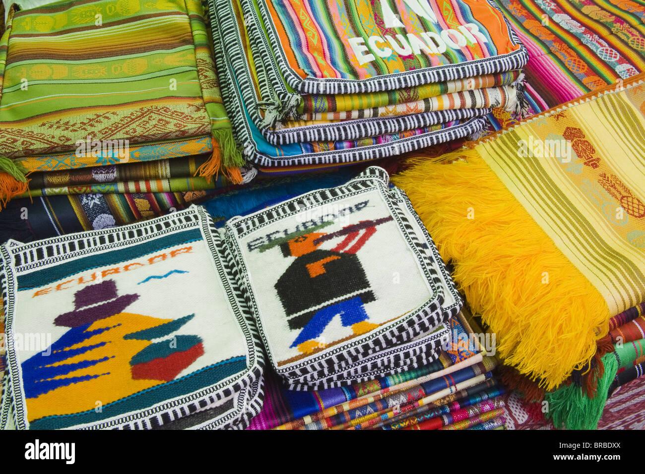 Marché artisanal à Montecristi, ville coloniale Ville de Manta, Equateur Photo Stock