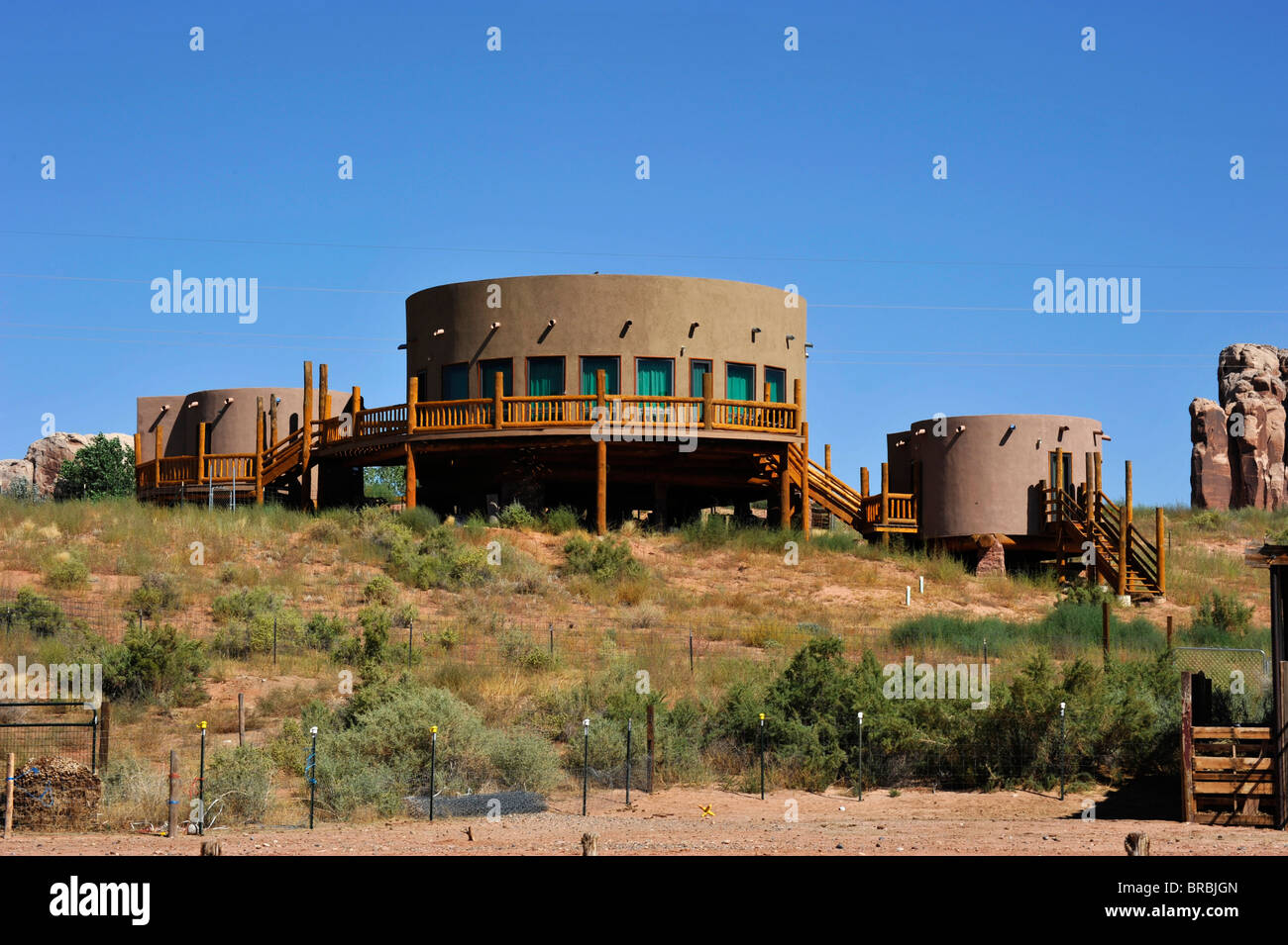 Maison de vacances désert Arizona USA Bluff Photo Stock