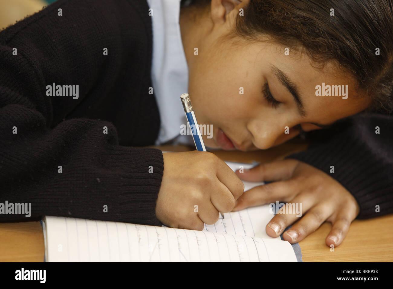 Lycéenne dans l'école Don Bosco, Nazareth, Tibériade, Israël Photo Stock
