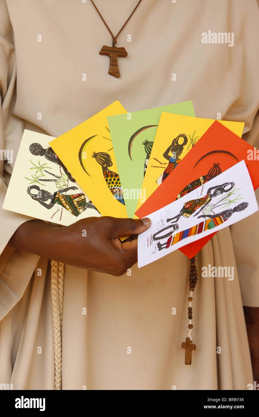 Faites des cartes à Akepe monastère catholique, Akepe, Togo, Afrique de l'Ouest Photo Stock