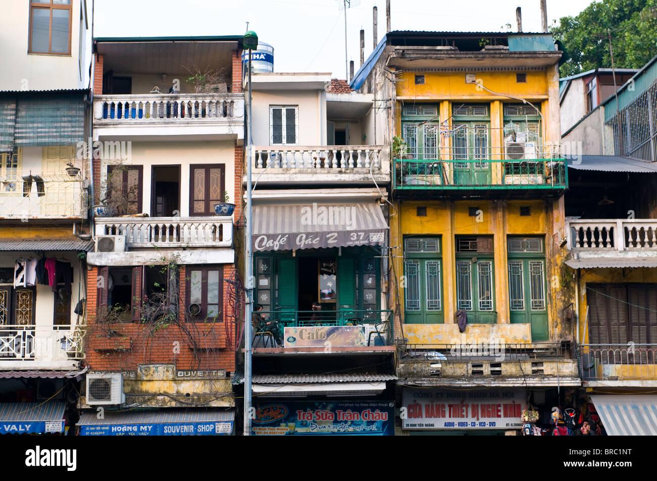 Maisons traditionnelles, Hanoï, Vietnam, Indochine Photo Stock