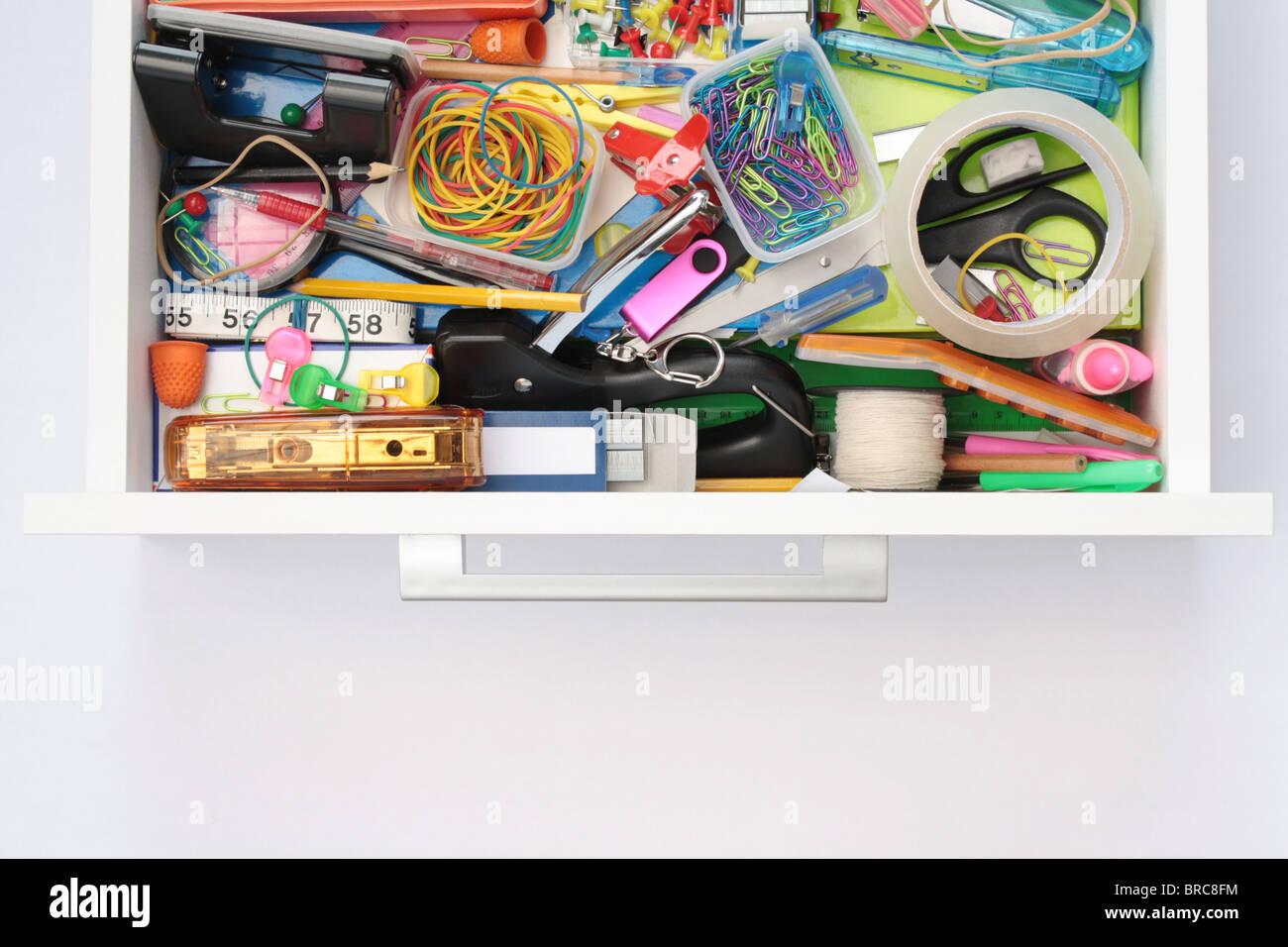 Le monde magique des tiroirs Papeterie Photo Stock