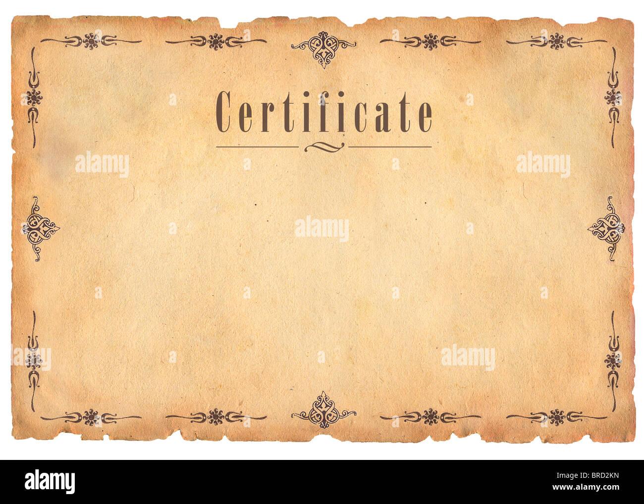 Arrière-plan de certificat Photo Stock