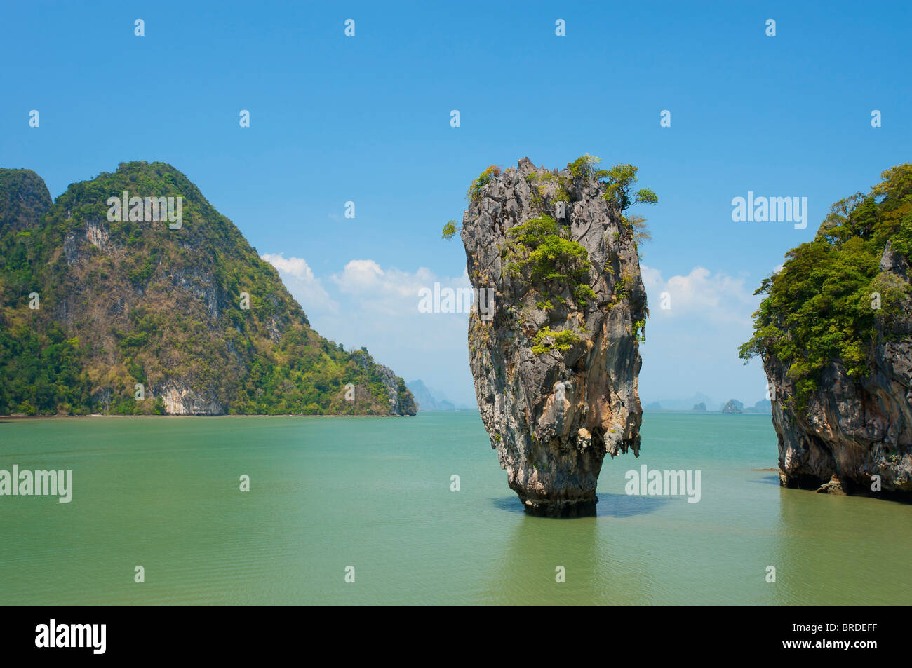 L'île de James Bond, le Parc National de la baie de Phang Nga, Phuket, Thailand Photo Stock