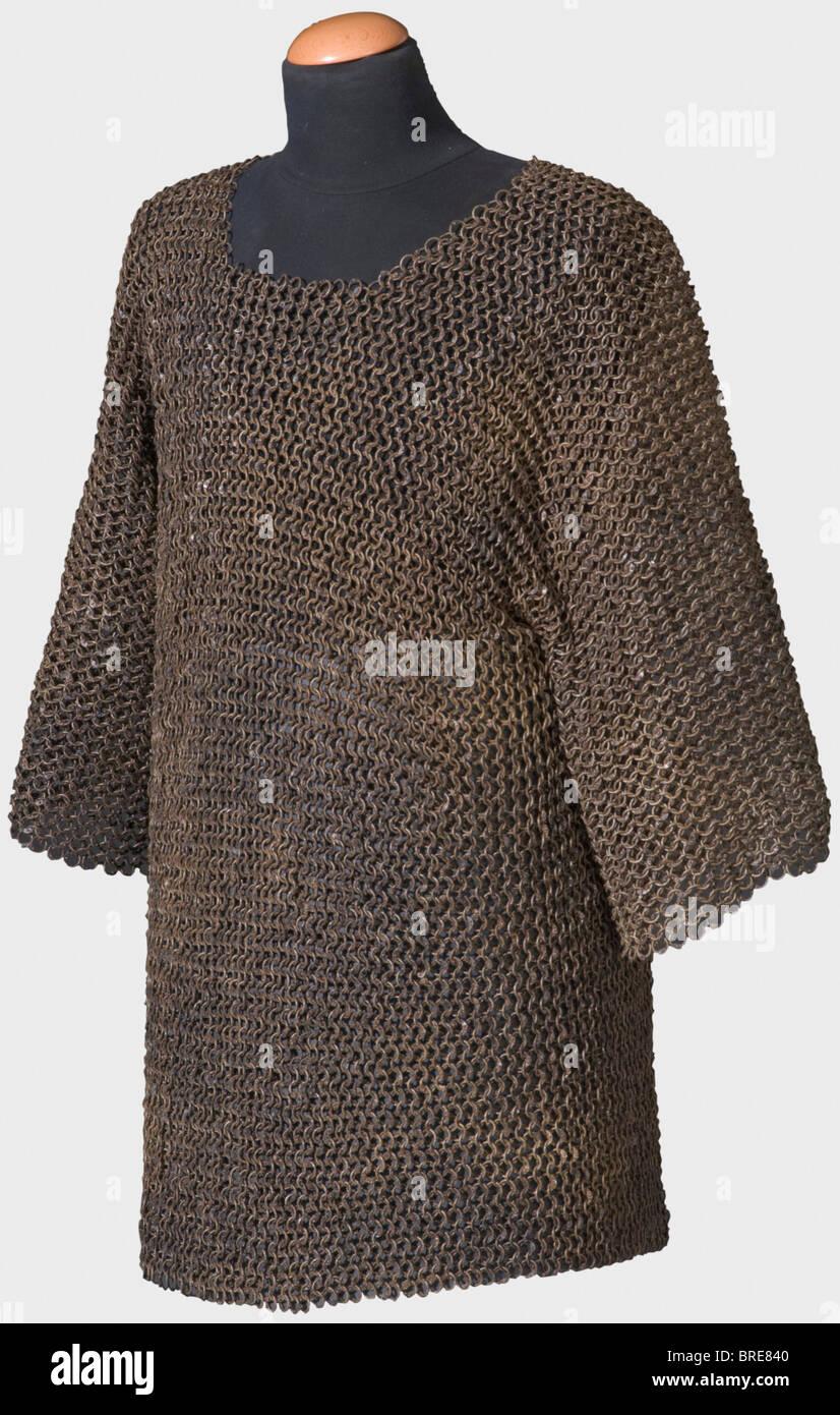 Un lourd mail shirt, sud-est de l'Europe, 16ème/17ème siècle un mail shirt hip-longueur des anneaux Photo Stock