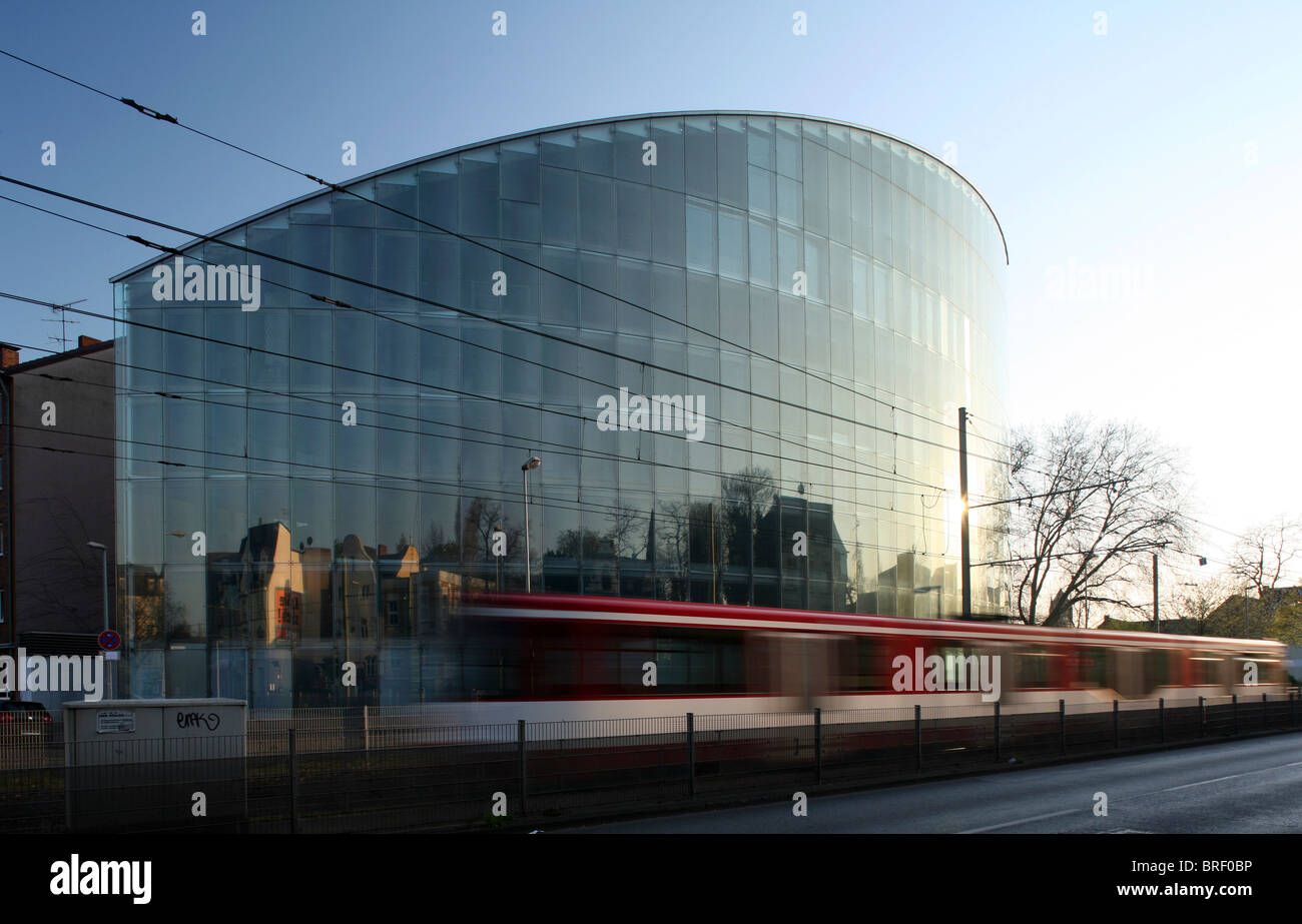 Haus der Wirtschaftsfoerderung, maison de la promotion économique, Duisburg, Germany, Europe Photo Stock