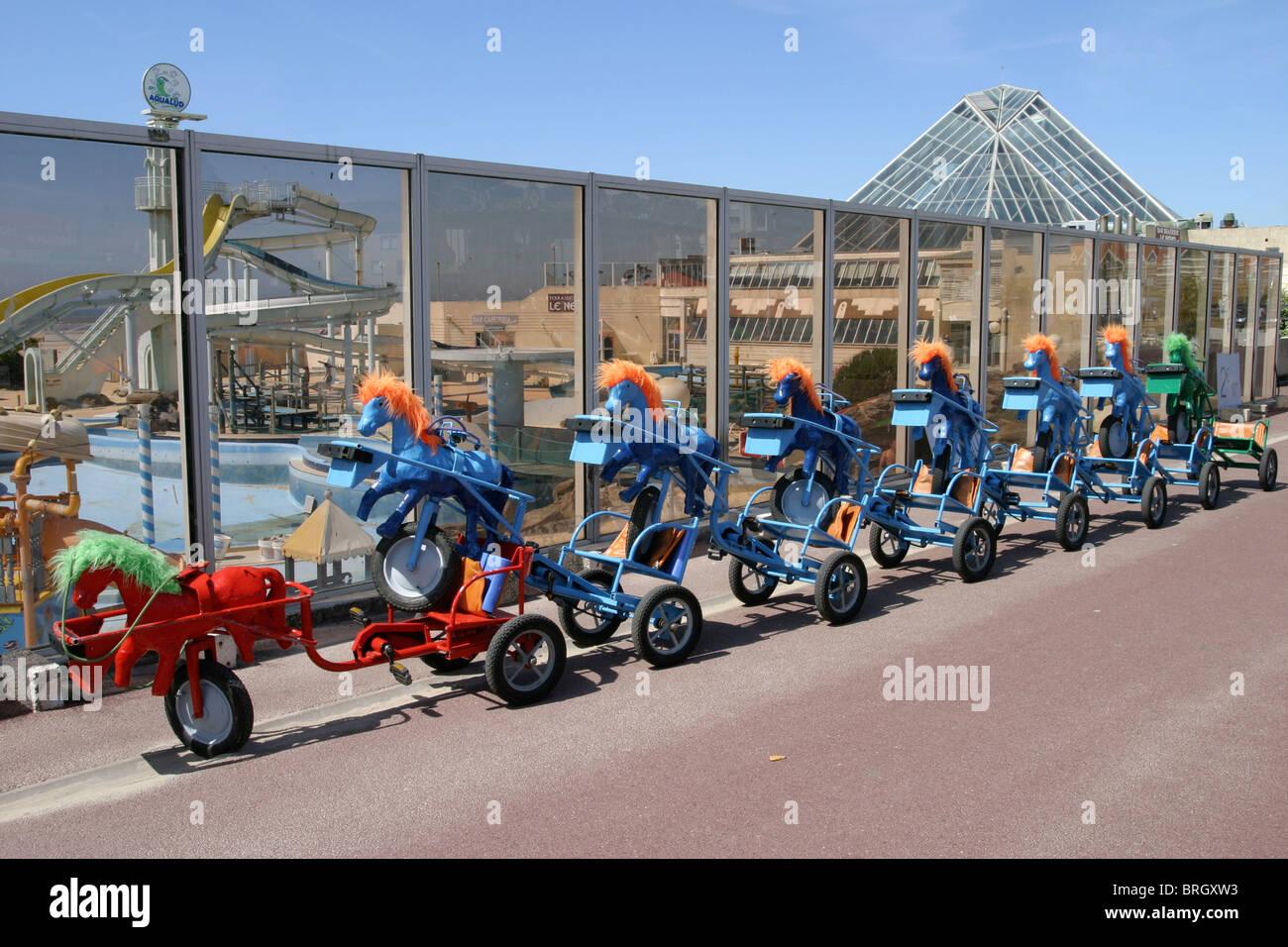 Divertissement de bord de voitures carts Photo Stock