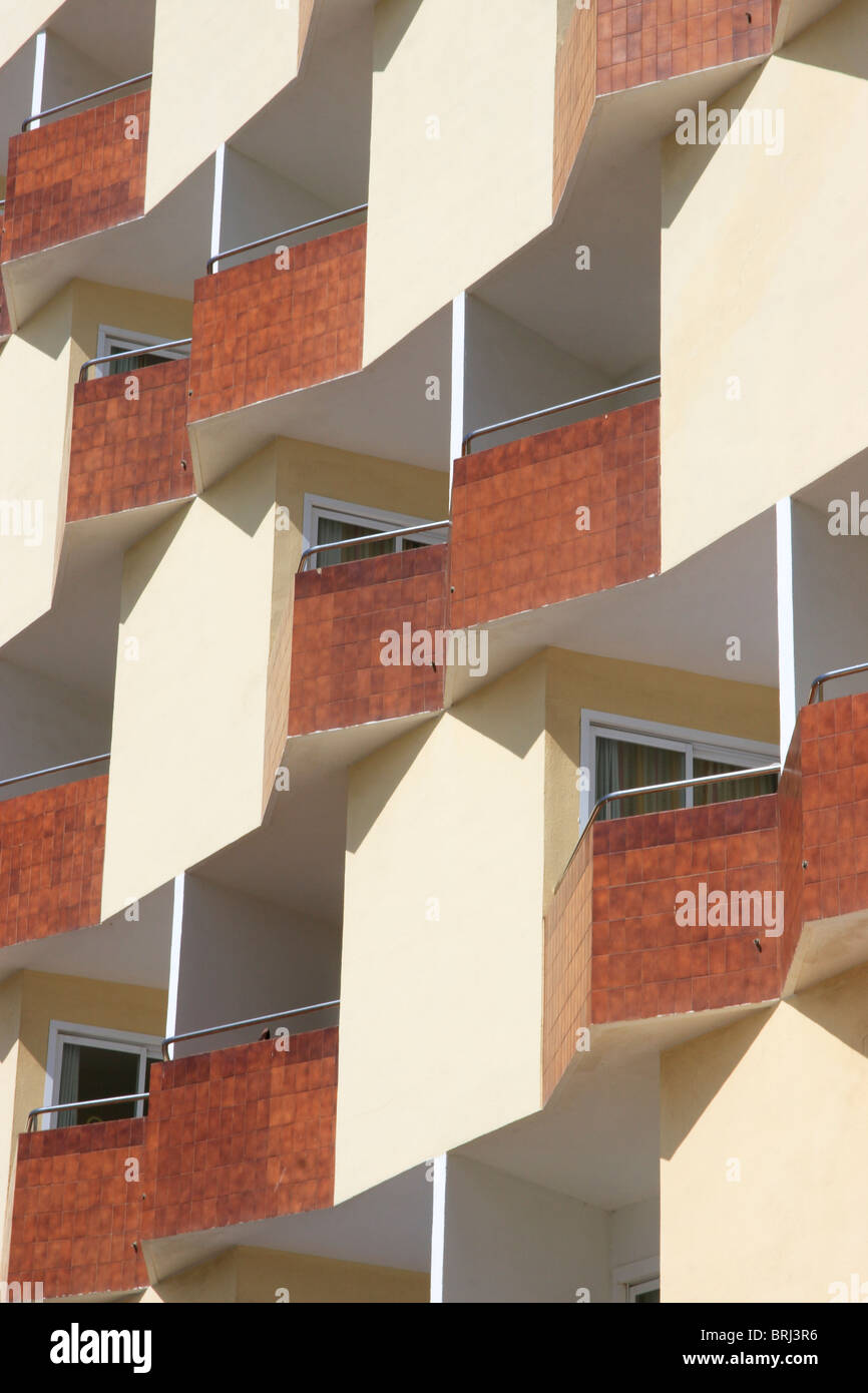 Appartements, Palma Nova, à Majorque. L'Espagne. Photo Stock