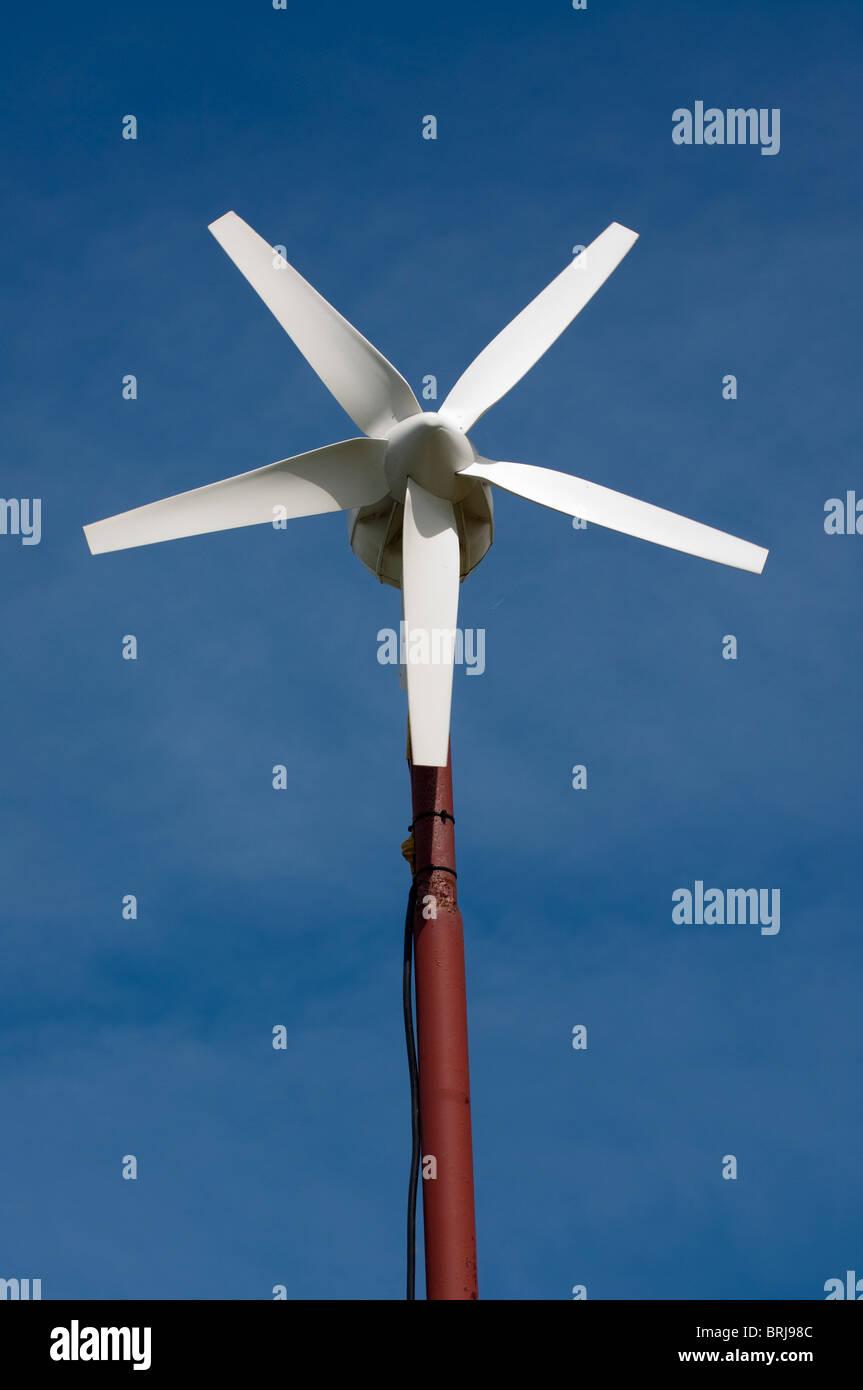 Gamme libre unité poule powered by wind turbine Photo Stock