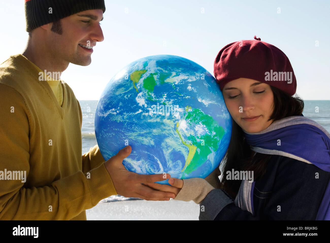 Concept de l'écologie, la protection de la terre Photo Stock