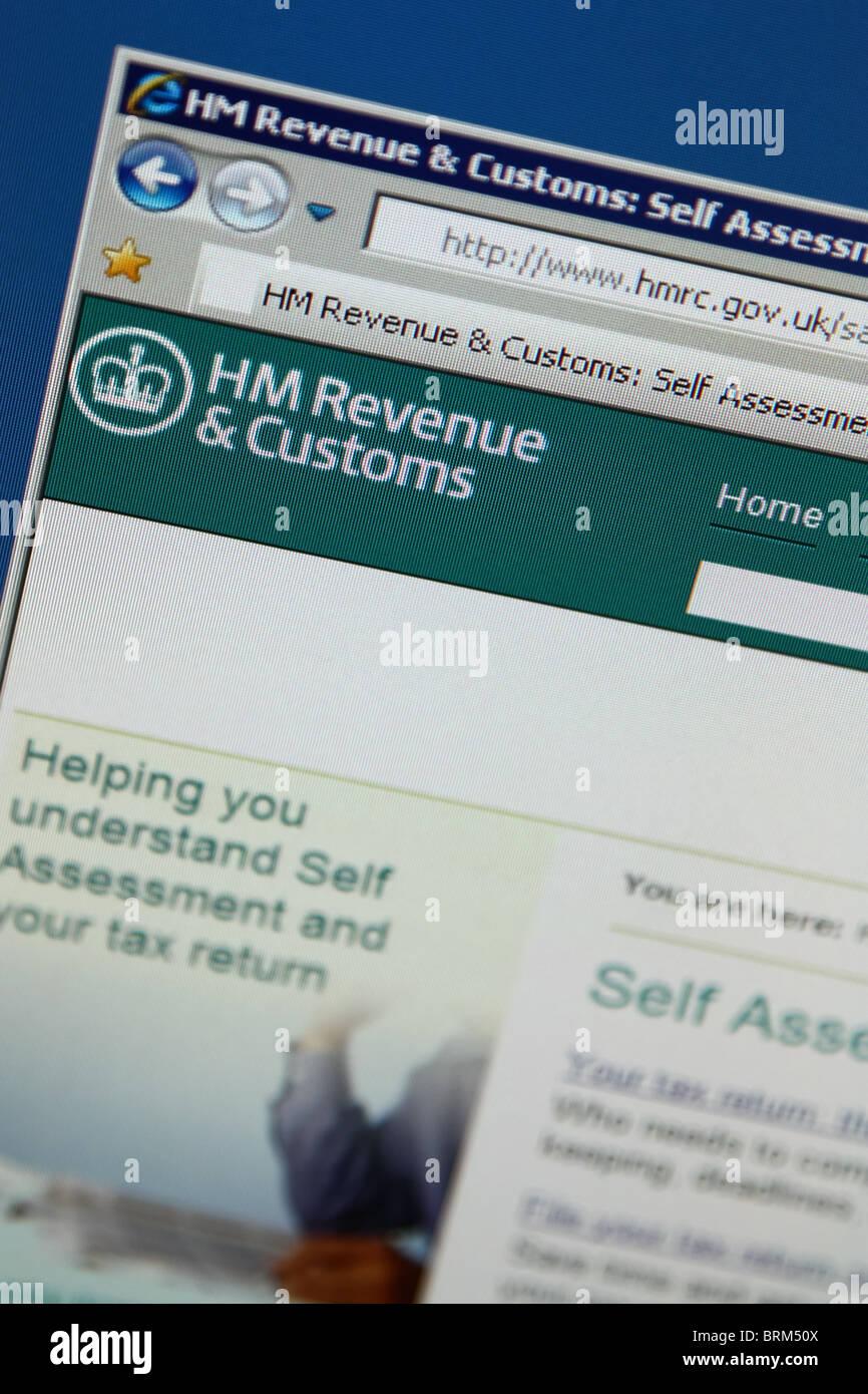 Site des douanes hm revenue Photo Stock
