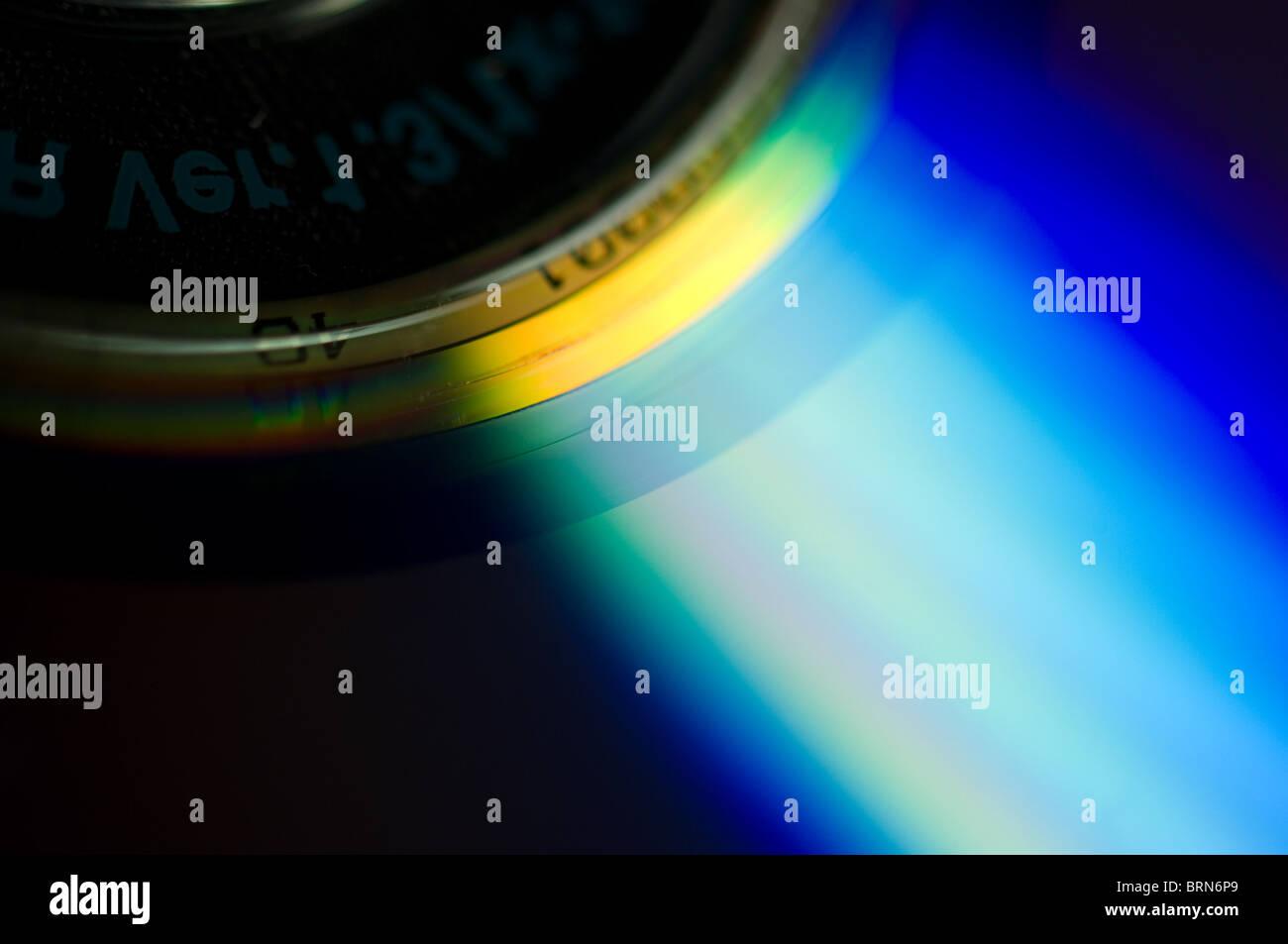 Réfraction de la lumière sur un disque Photo Stock