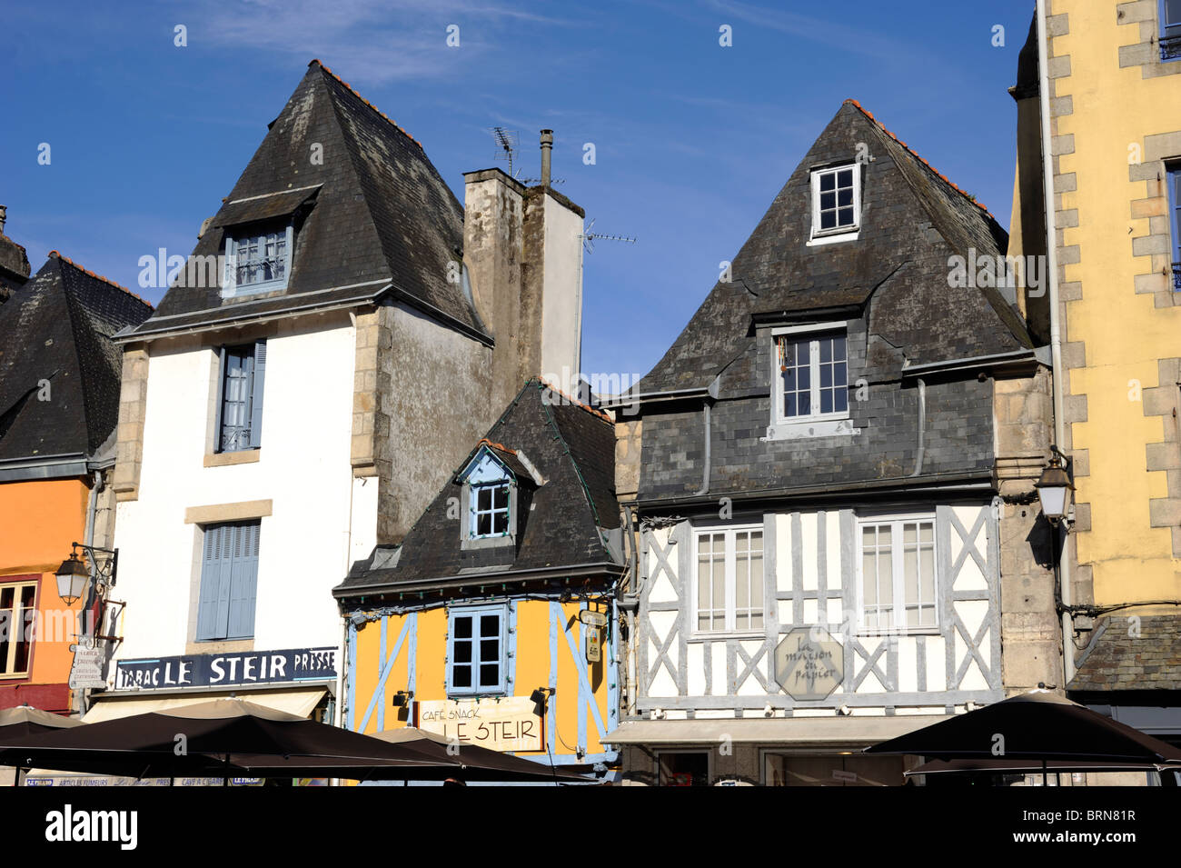 France, Bretagne, Finistère, quimper, maisons breton Photo Stock