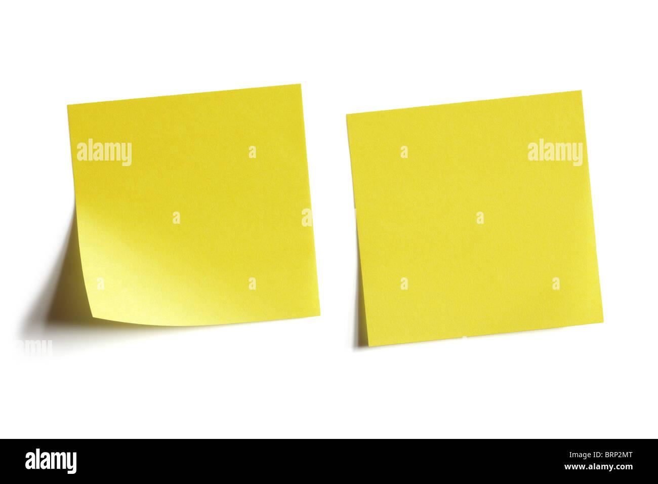 Post-it jaune Photo Stock
