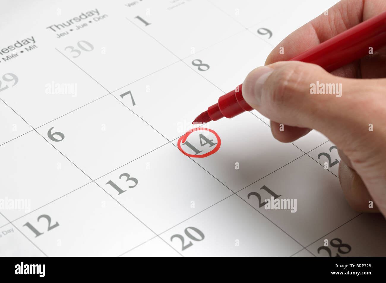 Date importante Photo Stock