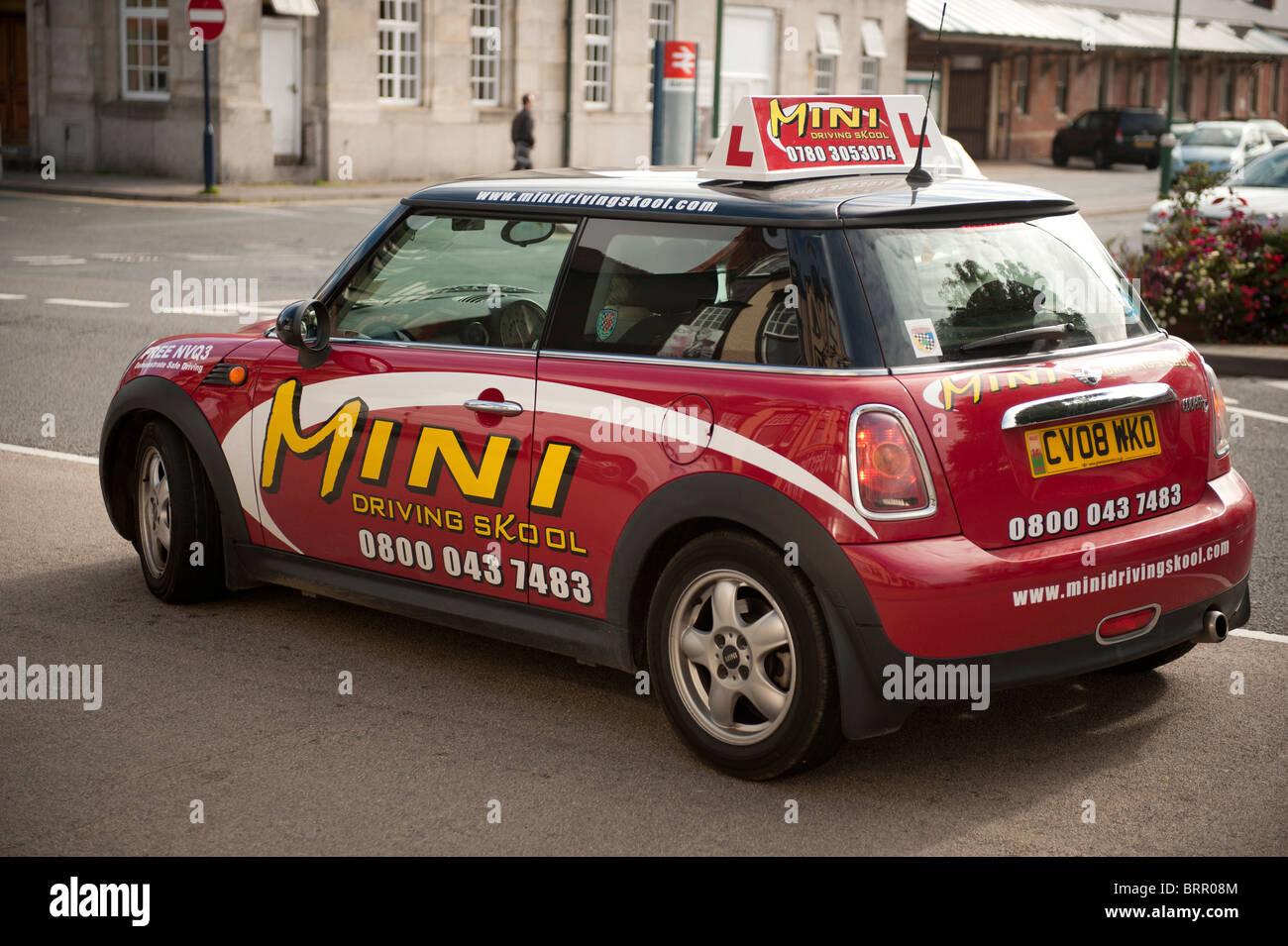 Mini voiture auto-école leçon UK Photo Stock