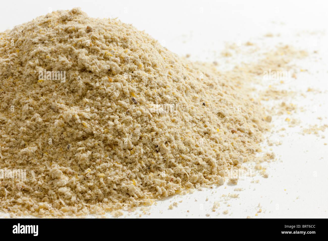 Tas de maïs moulu maizemeal Photo Stock
