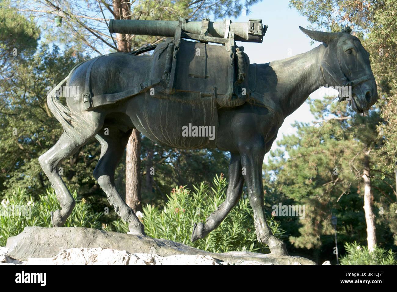 Monument à l'humble héros, Villa Borghese, Rome Photo Stock