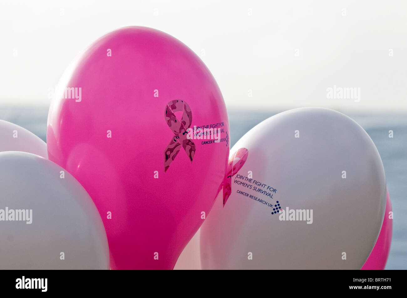 Ballons à l'aide de Thorndon Stride in Cancer Research UK. Photo Stock