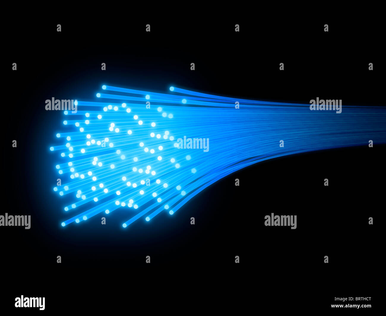 Câble à fibres optiques (illustration 3D). Banque D'Images