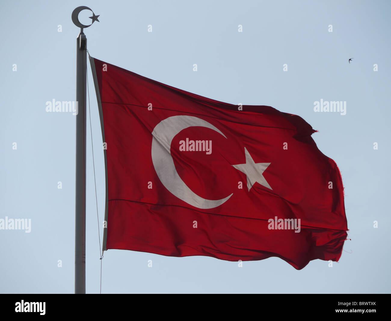 La Turquie drapeau turc. photo par Sean Sprague Photo Stock